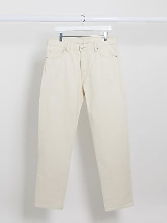 Weekday Barrel - Locker geschnittene Jeans in Creme-Cremeweiß
