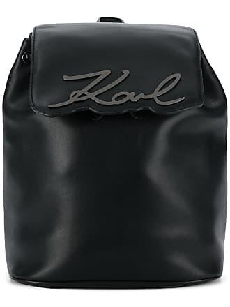 Karl Lagerfeld Mochila K/Signature de couro - Preto