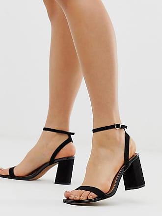 fbd109a530cdb Asos Hong Kong barely there block heeled sandals in black - Black