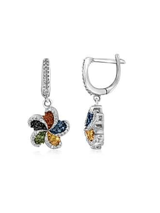 JewelersClub JewelersClub 1/2 Carat T.W. Multi-Color Diamond Sterling Silver Earrings