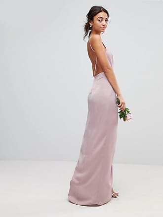 a766370b5d4 Asos Tall ASOS DESIGN Tall drape front strappy back maxi dress - Pink