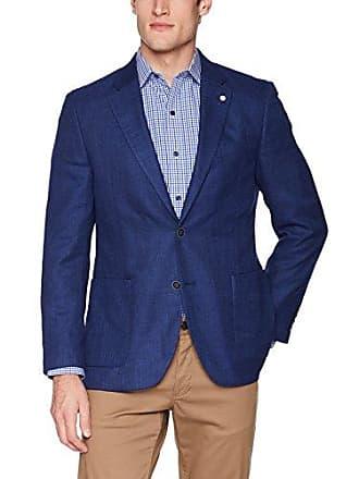Nautica Mens Textured Sportcoat, Navy, 40 Regular