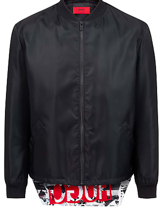a399fb0fb1 HUGO BOSS Slim-fit bomber jacket with foldable logo flap