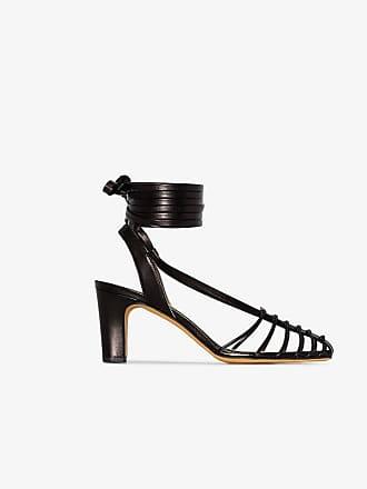 d1796b8c6c4 Maryam Nassir Zadeh Black Maribel 85 Ankle Strap Caged sandals