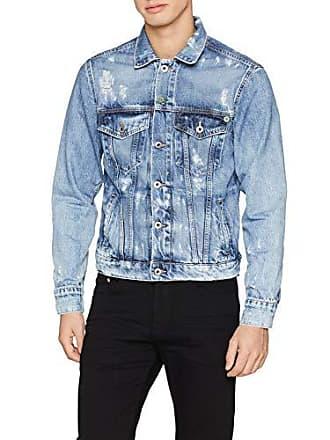 9e40c3b70807 Pepe Jeans London Pinner Jacket Wiser Wash PM400908 Veste en Jean Homme  Bleu (Wiser Wash