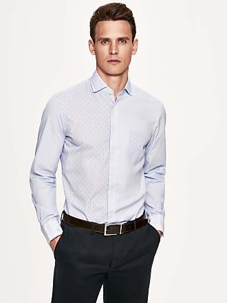 Henley Royal Regatta Mens Patterned Cotton Shirt   Medium   Blue/White