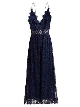97fb3e2b26f Zimmermann Castile Antique Lace Trimmed Silk Jumpsuit - Womens - Navy