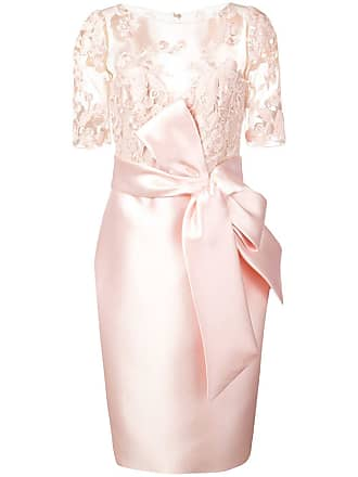 Badgley Mischka lace panelled dress - Pink