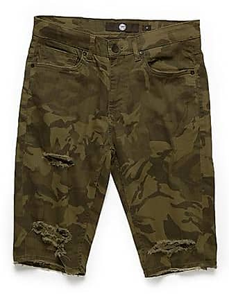 21 Men Jordan Craig Camo Print Denim Shorts at Forever 21 Olive