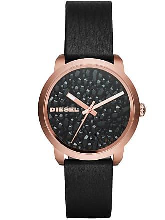 d424f2610444 Diesel Montre DIESEL en Cuir Noir