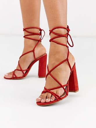 Glamorous Absatzschuhe mit Riemen-Rot