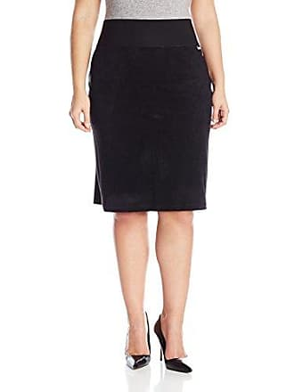 9ed5aae93 Calvin Klein Womens Plus-Size Essential Power Stretch Faux Suede Skirt,  Black, 2X
