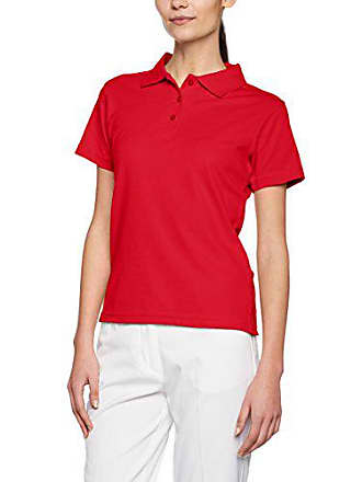 James /& Nicholson Funktionspolo Elastic Talla del Fabricante: Large Large Red//White Rojo Polo Mujer