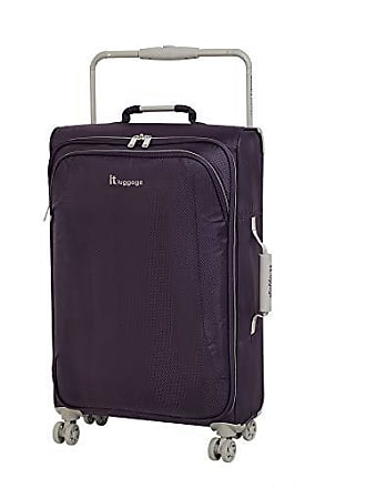 IT Luggage IT Luggage 27.6 Worlds Lightest 8 Wheel Spinner, Purple Pennant With Cobblestone Trim