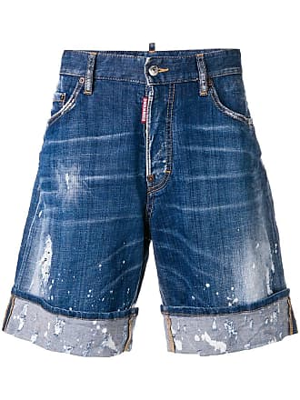 Dsquared2 distressed denim shorts - Blue