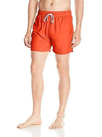 a6ed44bea6928 Retromarine New York Mens Solid Volley Swim Trunk, Orange Neon, Medium
