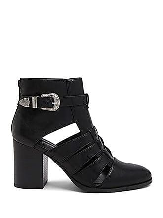Forever 21 Forever 21 Buckled Cutout Booties Black
