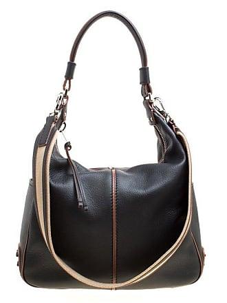8c1b190ebaf8 Tod s Black Leather Medium Miky Top Handle Shoulder Bag