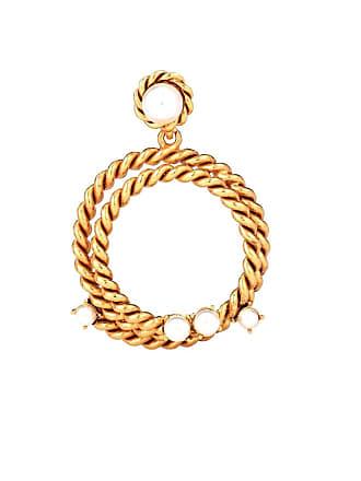 Oscar De La Renta Rope hoop earrings