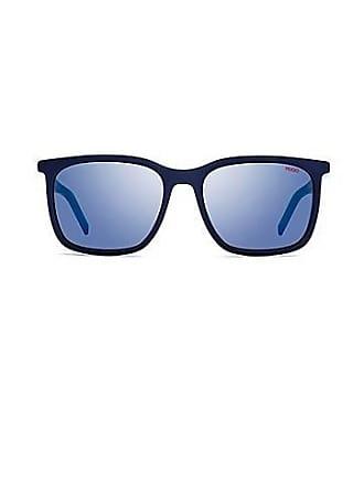 f11ef7d6f0f3e9 HUGO BOSS Hoekige zonnebril met montuur van meerlaags acetaat