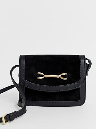 cfbeb51a5a7b4 Asos suede and leather mix cross body bag with snaffle