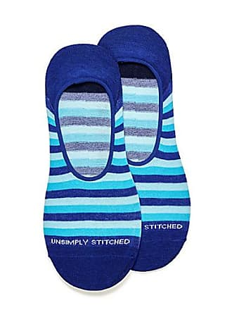 Unsimply Stitched Blue stripe ped socks