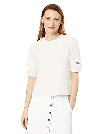 Skinnygirl Womens Kate Back Lace Up Knit Top, Snow White Small
