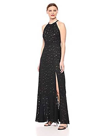 Bcbgmaxazria BCBGMax Azria Womens Strappy Dotted Maxi Dress, Black, 4