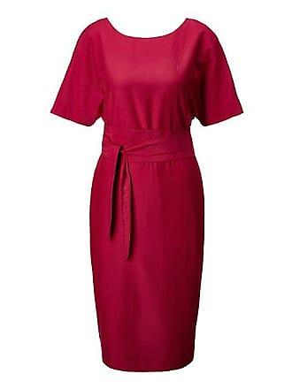 4d898f2243c5a7 Madeleine Seide Elegantes Kleid mit separatem Bindeband Damen himbeerpink /  rot