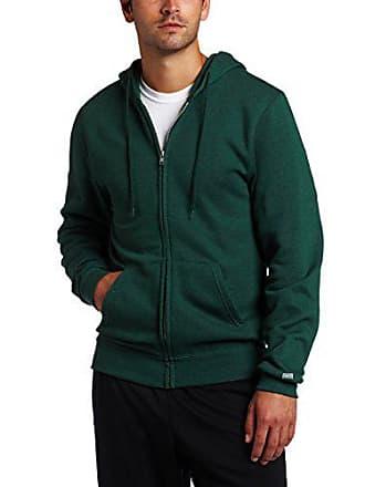 Soffe Mens Training Fleece Zip Hood Sweatshirt Dark Green XX-Large