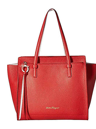 Salvatore Ferragamo Medium Amy Tote Bag (Flame Red Jasmine Flower) Handbags c888cd773d975