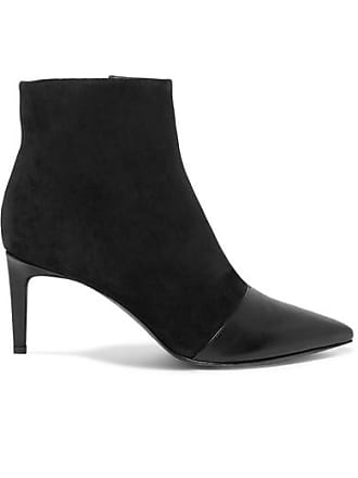 Rag & Bone Beha Paneled Leather And Suede Ankle Boots - Black