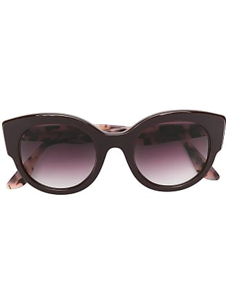 Emmanuelle Khanh round oversized sunglasses - Roxo