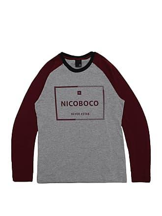 NICOBOCO Camiseta Nicoboco Menino Escrita Cinza