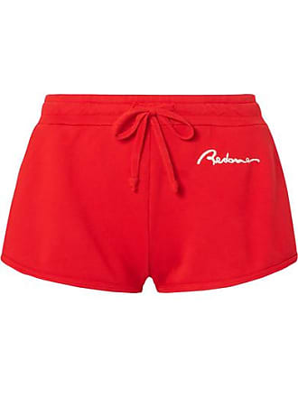 Re/Done Embroidered Cotton-jersey Shorts
