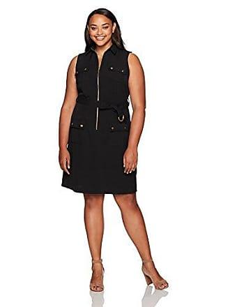 e76802c6655 Sharagano Womens Plus Size Sleeveless Shirt Dress with Cargo Pockets