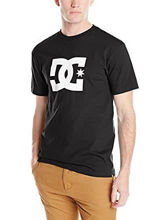 DC Mens Star Short Sleeve Logo T-Shirt, Black 2016, X-Large