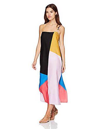 626e6c3ff7 Mara Hoffman Womens Sena Spaghetti String Cover Up Dress, Chapiteau  Blue/Multi, Small