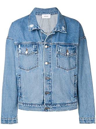 Rhude Jaqueta jeans com detalhes puídos - Azul
