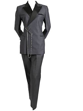 96a55b23f32 Jean Paul Gaultier 1990s Jean Paul Gaultier Grey Suit With Oversized Safety  Pin And Chain Detail