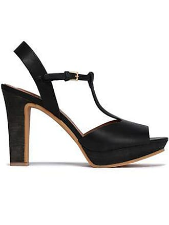 See By Chloé See By Chloé Woman Alex Leather Platform Sandals Black Size 37