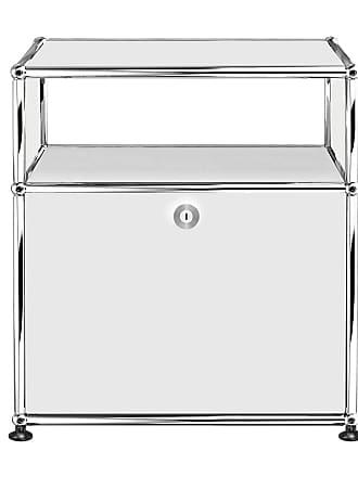 USM Sideboard mit Klapptür H 56,5cm - reinweiß RAL 9010/52x37x56,5cm/1 offenes Fach oben