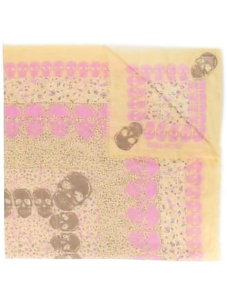 Zadig & Voltaire skull pattern scarf - Yellow