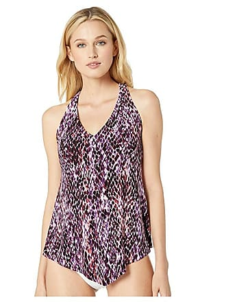 3977faaec8 Magic Suit By Miraclesuit Snake Charmer Taylor Tankini (Plum) Womens  Swimwear