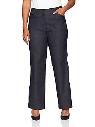 Ruby Rd. Womens Plus-Size Fly Front Heathered Millennium Tech Stretch Pant, Navy, 18W