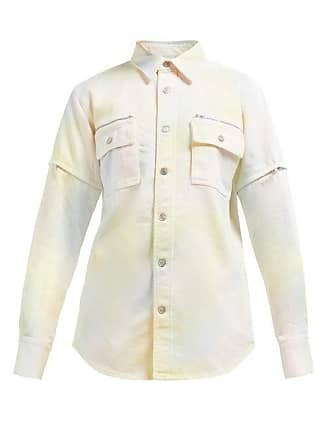 Ganni Tie Dye Adjustable Sleeve Denim Shirt - Womens - Multi