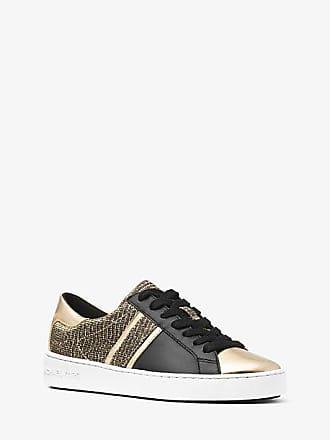 Michael Kors Keaton Chain-Mesh And Leather Sneaker