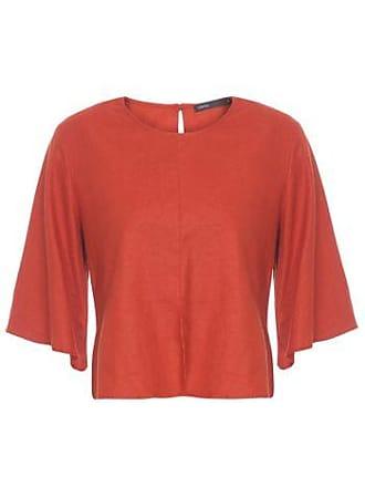 Lebôh Blusa Decote Redondo Lêboh - Vermelho