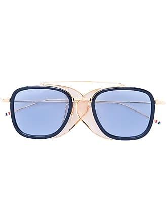 Thom Browne Mesh Side Sunglasses - Metallic