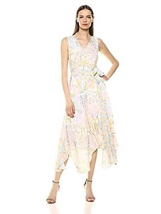 cdea35f29f5 Calvin Klein Womens Belted V-Neck Maxi Dress